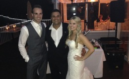 Perth Wedding Dj - Dj Avi with bride and groom - Margaret river.jpg